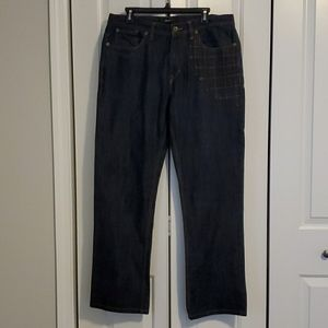 Thick and great quality dark blue wash jeans